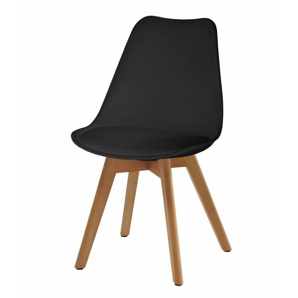 Chaise Scandinave noire (lot de 2)