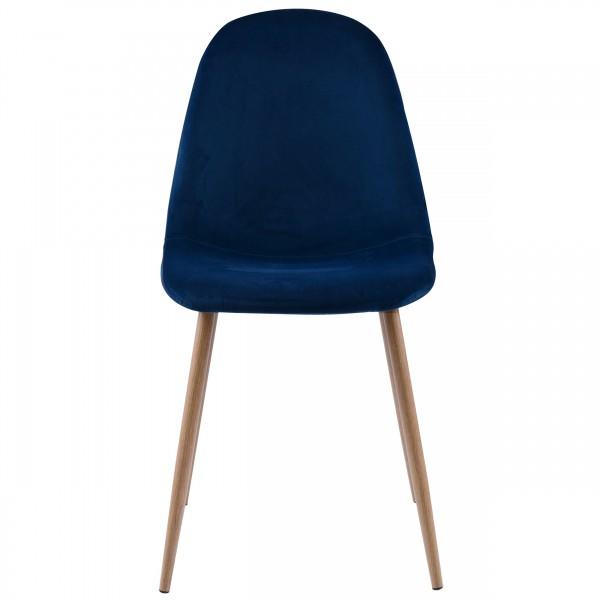 Chaise Olga en velours bleu roi (lot de 2)