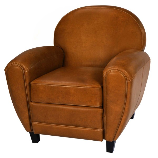Fauteuil Club camel