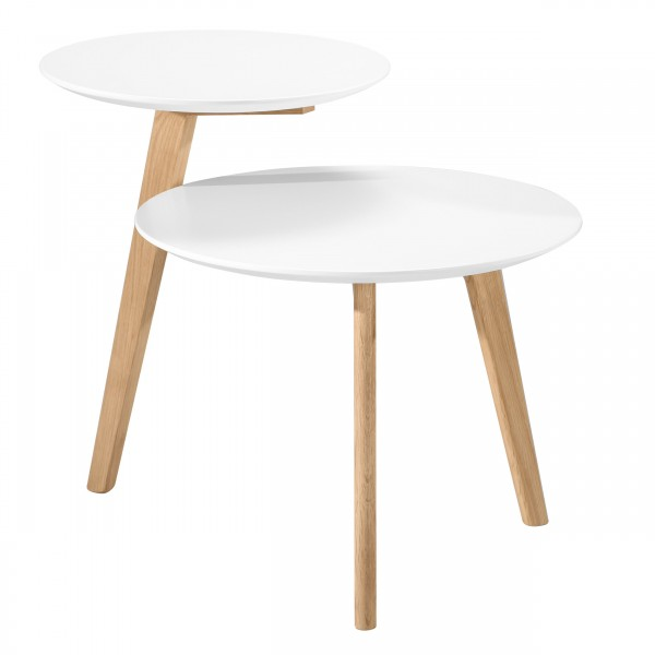 Table d'appoint Duo blanche