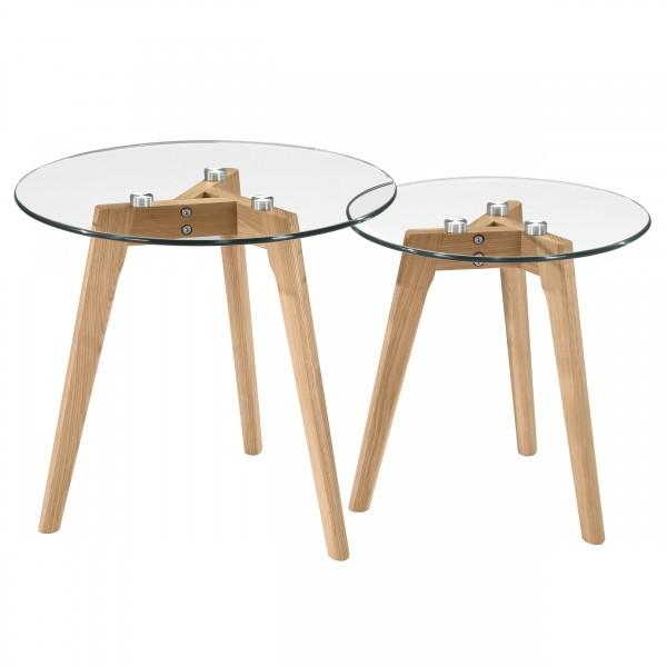 Tables basses gigognes en verre Glass (lot de 2)