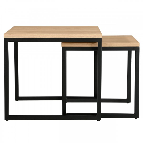 Tables basses gigognes carrées Thelma (lot de 2)