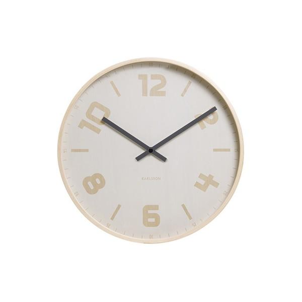 Horloge blanche et dorée Jules
