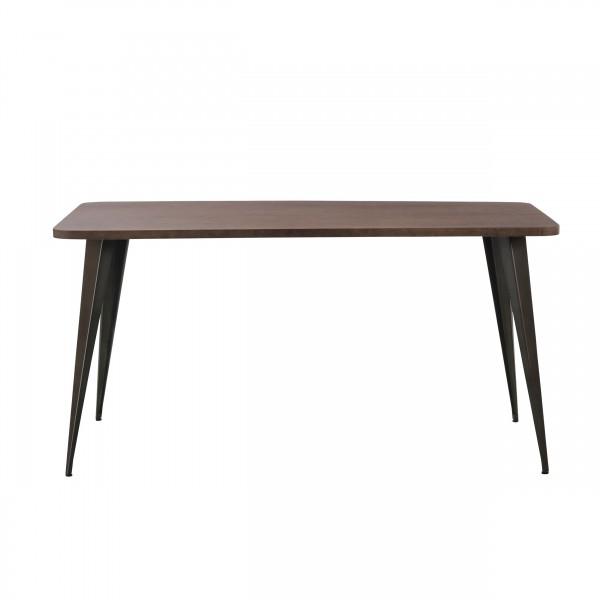 Table de repas rectangulaire 150 cm métal et bois
