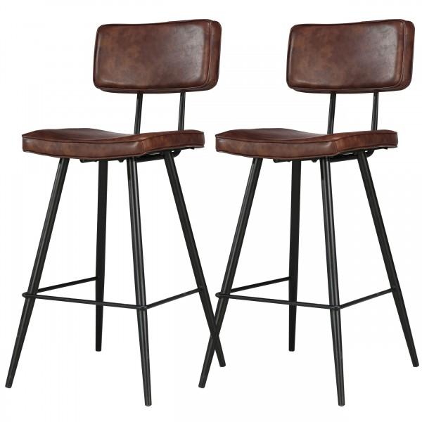 Chaise de bar Loft marron (lot de 2)