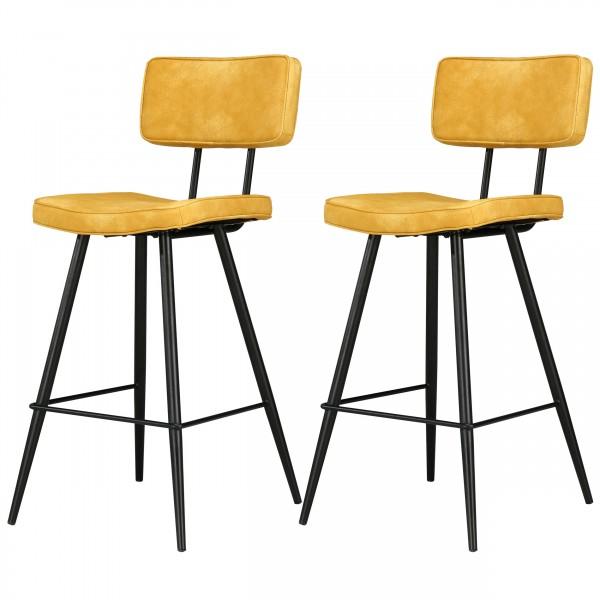 Chaise de bar Loft jaune (lot de 2)