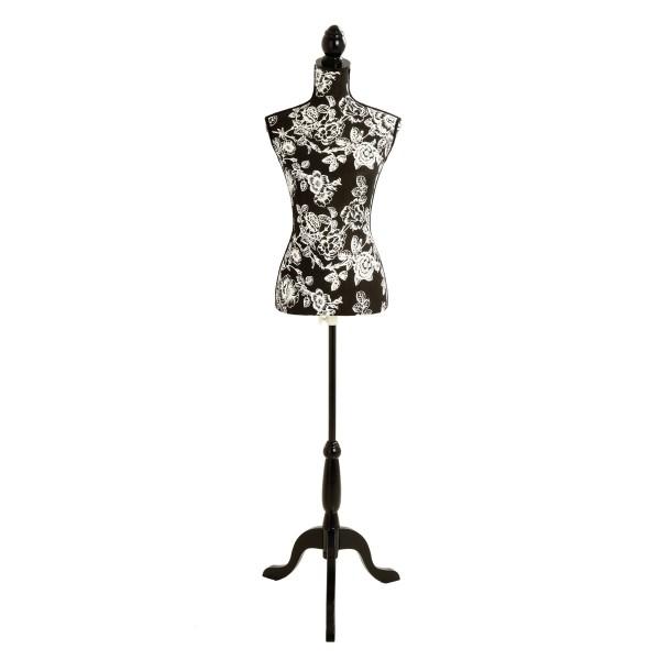 Mannequin couture Roses noires