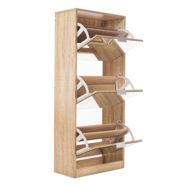 Meuble à chaussures 3 tiroirs avec miroir Scandinave