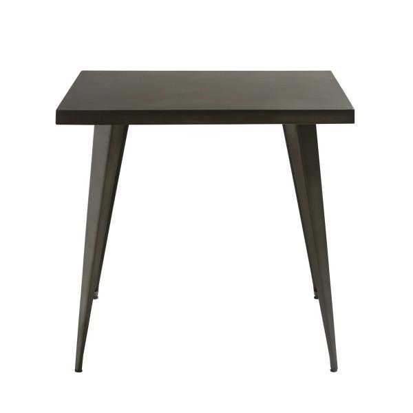 Table carrée en métal 80cm
