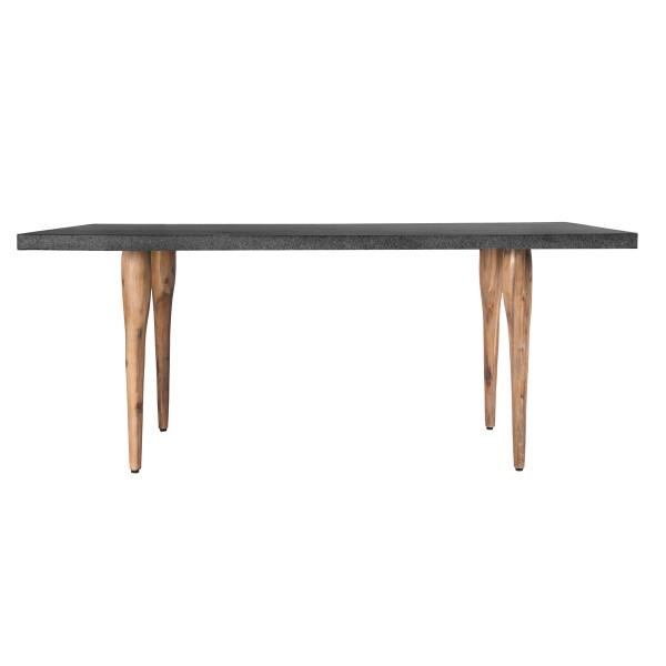 Table rectangulaire 160 cm (résine et bois)