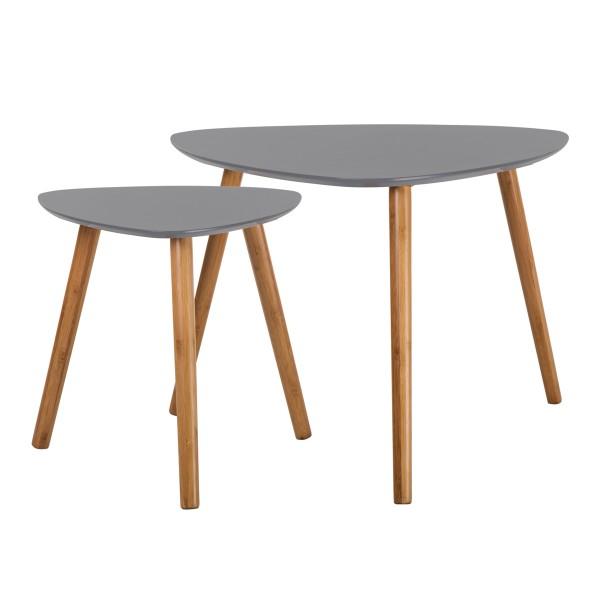 Tables basses gigognes en bois grises