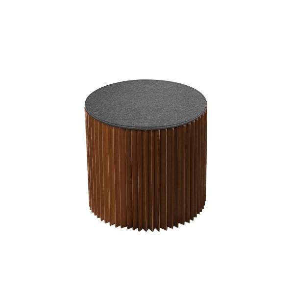 Tabouret Paper marron (avec assise grise)