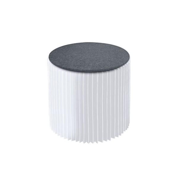 Tabouret Paper blanc (avec assise grise)