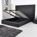 Lit-Coffre  140 cm Eliott Noir